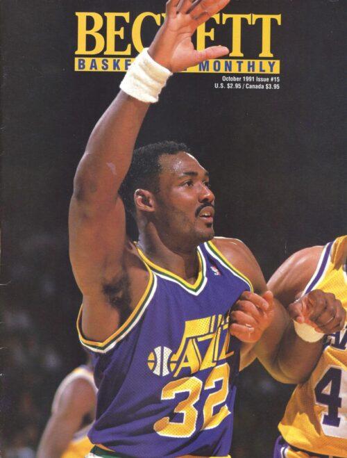 #15 October 1991-Karl Malone Basketball Beckett