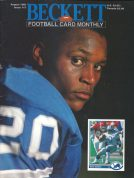 #17 August 1991-Barry Sanders Football Becketts