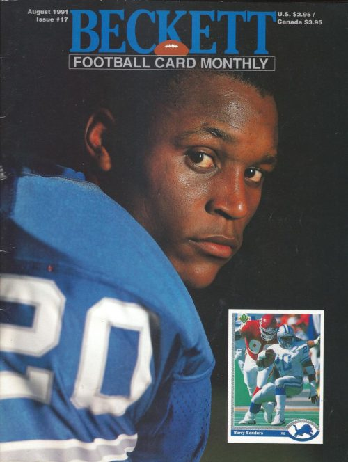 #17 August 1991-Barry Sanders Football Beckett