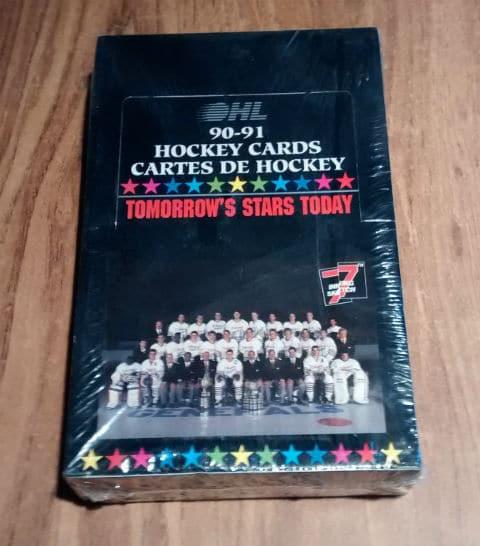 1990-1991 7th Inning Sketch OHL Hockey Sealed Wax Box