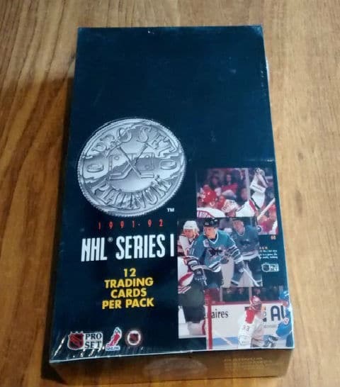 1991-92 Pro Set Platinum Series NHL Hockey Box