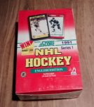 1991-92-Score English Series NHL Hockey Box