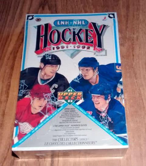 1991-92 Upper Deck French High# Hockey Retail Box