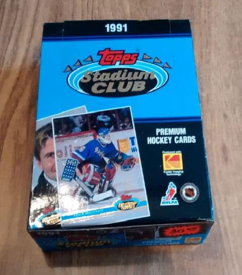 1991 Stadium Club HOCKEY Premiere Box NHL