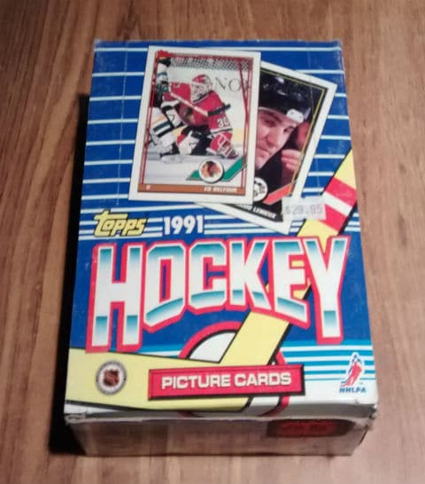 1991 Topps Hockey Card 36 Pack Box