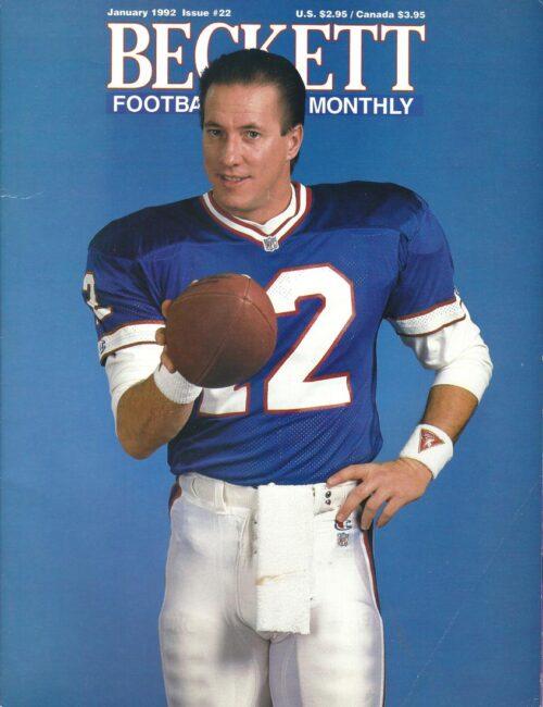 #22 January 1992-Jim Kelly Football Beckett