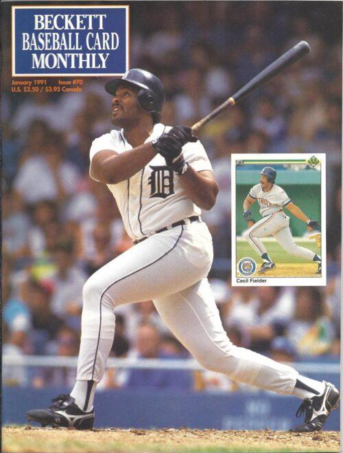#70 January 1991-Cecil Fielder Baseball Beckett