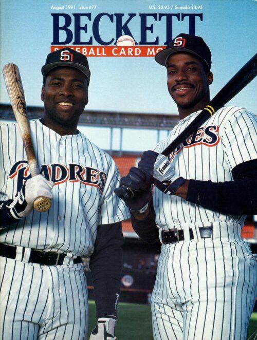 #77 August 1991-Fred McGriff/Tony Gwynn Baseball Beckett