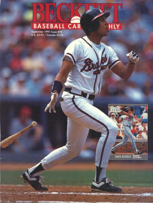 #78 September 1991-Dave Justice Baseball Beckett