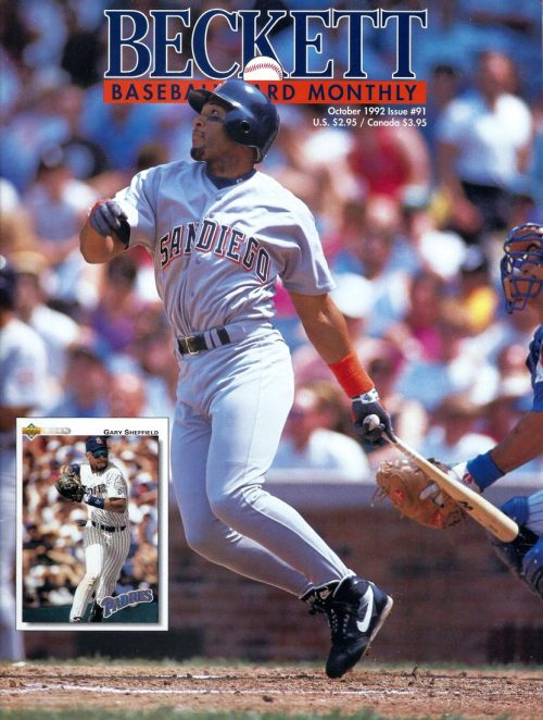 #91 October 1992-Gary Shefield Baseball Beckett