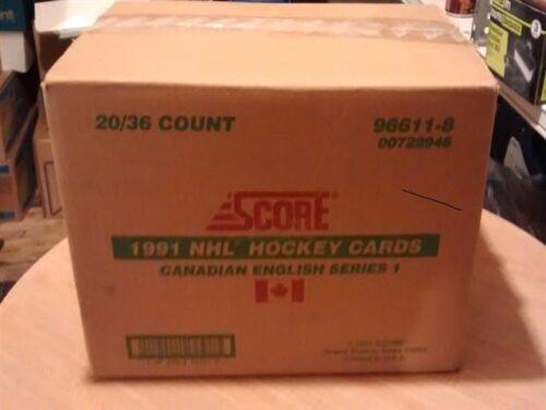 1991-92-Score Hockey English Series Box Case