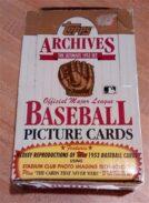 1991 Topps Baseball Archives '53 Reprint
