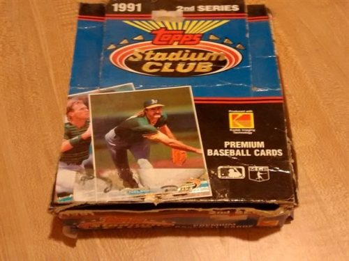 1991 Topps Stadium Club Series Baseball Box