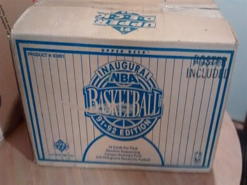 1991-92 Upper Deck NBA Basketball INAUGURAL LOW SERIES SEALED CASE