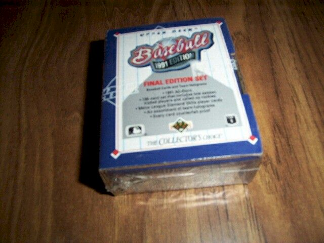 1991 Upper Deck Baseball Box Final Edition Set 100 Cards Mr Sport
