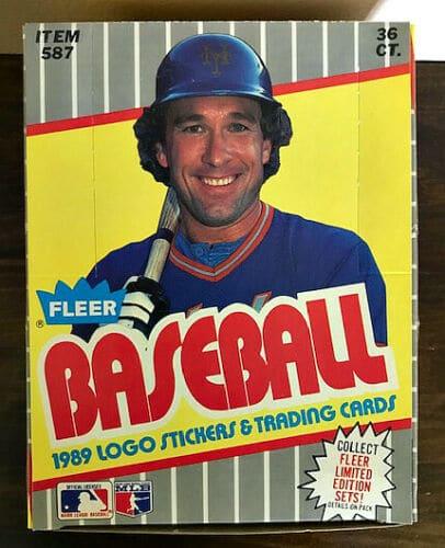 1989 Fleer Baseball Box