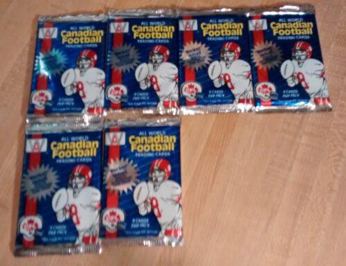 1991 All World Canadian Football Wax Packs