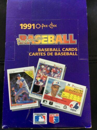 1991 OPC Premier Baseball Box