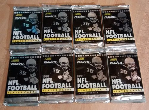1991 PINNACLE PREMIER EDITION NFL FOOTBALL - 8 WAX PACKS