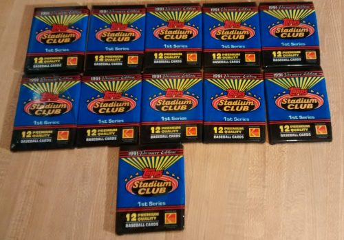 1991 Topps Stadium Club BB Series 1 - 11 Wax Packs