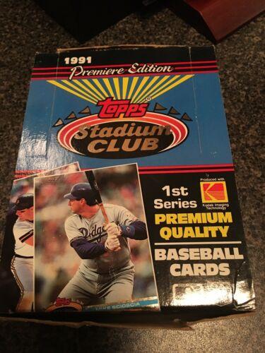 1991 Topps Stadium Club BB Series 1 Box