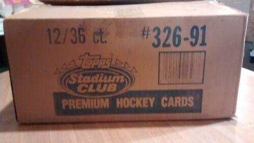 991 Topps Stadium Club Hockey Factory Case