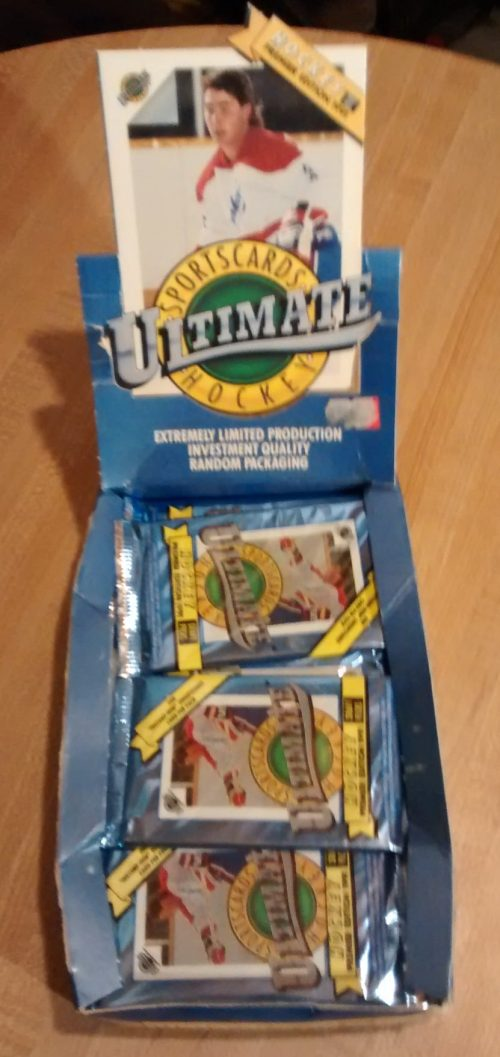 1991 Ultimate Draft Picks Hockey - 19 Factory Sealed Packs02