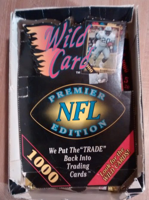 1991 WILD CARD PREMIER EDITION FOOTBALL BOX