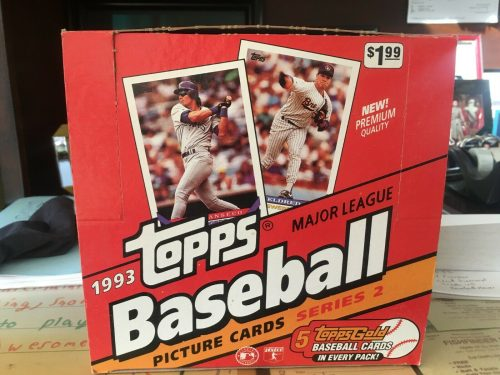 1993 Topps BB Jumbo Series 2 Box
