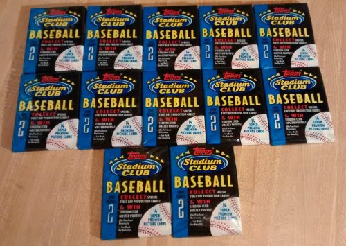 1993 Topps Stadium Club BB Series 2 - 12 Wax Packs
