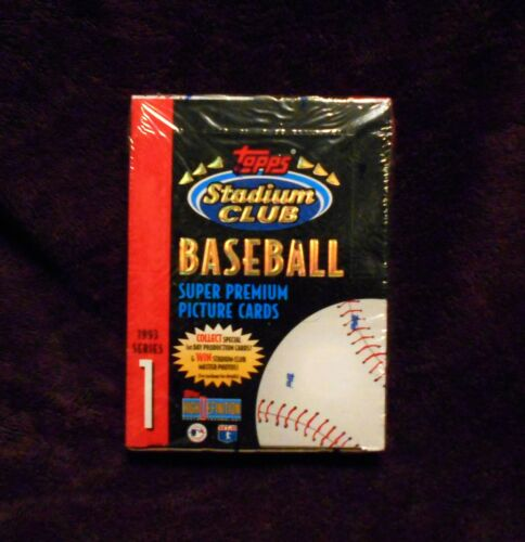 1993 Topps Stadium Club Baseball 1 Box