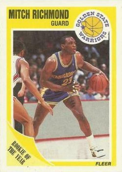 1989-90 Fleer #56 Mitch Richmond Warriors RC