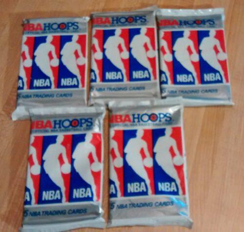 1990-91 NBA Hoops Series I Basketball - 5 Packs