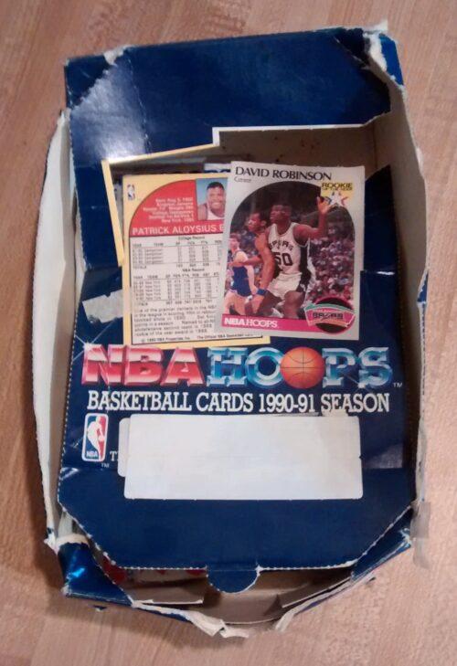 1990-91 NBA Hoops Series I Basketball Box