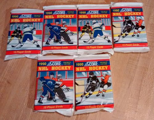 1990 Score NHL Hockey Premier Edition - 6 Factory Sealed Packs