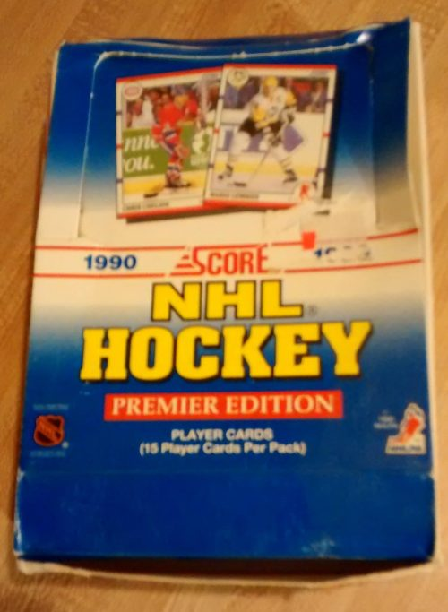 1990 Score NHL Hockey Premier Edition Box