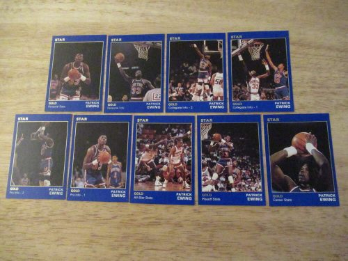 1990 Star Basketball GOLD Set Patrick Ewing