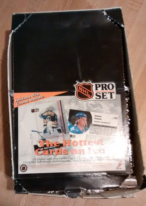 1991-92 Pro Set Hockey Series 1 Box