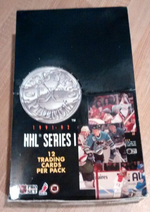 1991-92 Pro Set Hockey Series 1 Box