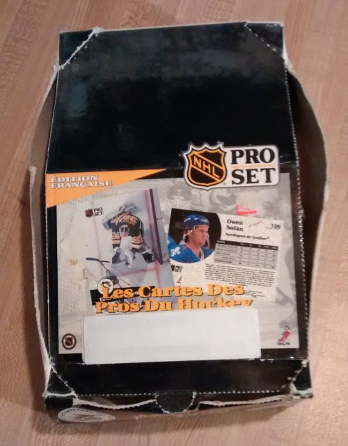 1991 Pro Set Hockey Cards NHL French Edition Box