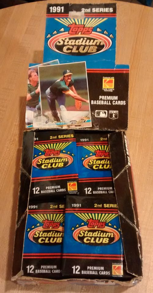 1991 Topps Stadium Club Series 2 Baseball Box02