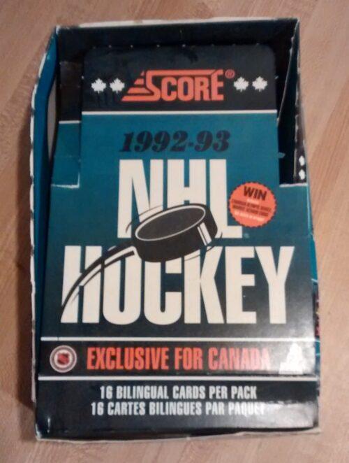 1992-93 Score NHL Hockey Box