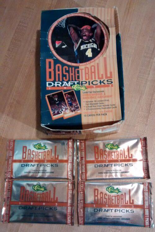 1993 Classic Draft Picks Basketball - 4 Packs