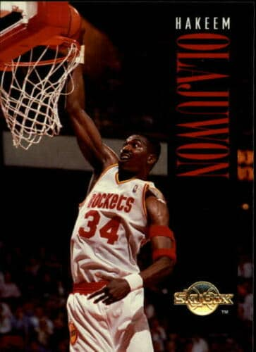 1994-95 SkyBox Premium Basketball #62 Hakeem Olajuwon