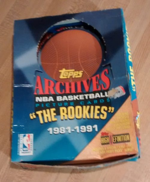 1993 Topps Archives NBA Basketball 'The ROOKIES' Box